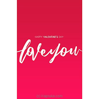 Valentine Greeting Card Online at Kapruka | Product# greeting00Z1688
