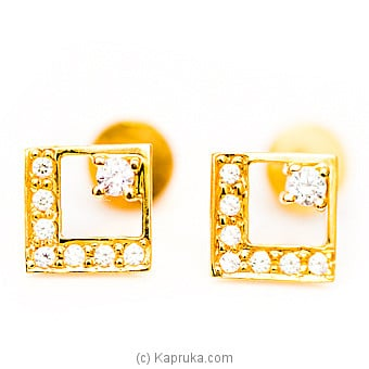 22kt Gold E`stud Set With Cubic Zirconia-E406/1at Kapruka Online forspecialGifts