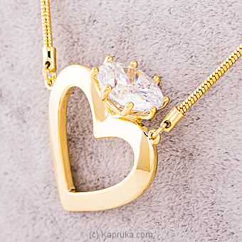 Crystal Heart Pendants With Necklace Online at Kapruka | Product# jewllery00SK636