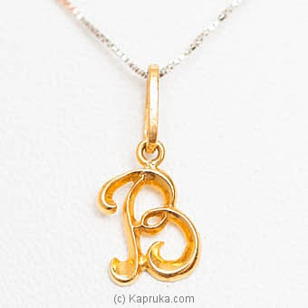 22kt Gold Letter Pendant (P105)  Online at Kapruka | Product# jewelleryMH0205