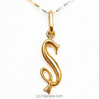 22kt Gold Letter Pendant (P122)  Online at Kapruka | Product# jewelleryMH0220
