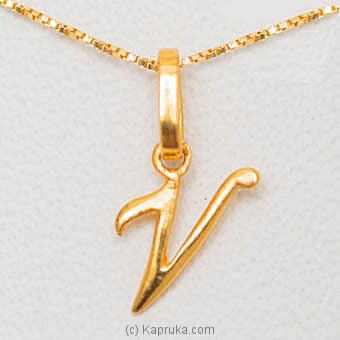 22kt Gold Letter Pendant (P125)  Online at Kapruka | Product# jewelleryMH0221