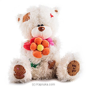 Fuzzy Teddy With Flower Bunch Online at Kapruka | Product# softtoy00546