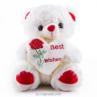 Best Wishes Teddy Online at Kapruka | Product# softtoy00554