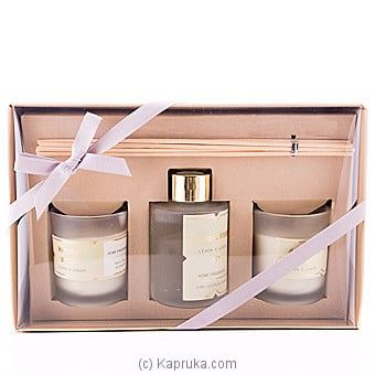 Sense Of Lemon & Ginger Fragrance Candle Gift Set at Kapruka Online for specialGifts