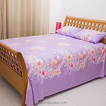 Light Purple Squirrel & Floral Cotton Bed Sheet Single Online at Kapruka | Product# household00336_TC1