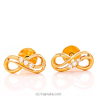 22kt gold e`stud set with cubic zirconia (e793/1) Online at Kapruka | Product# jewelleryMH0243
