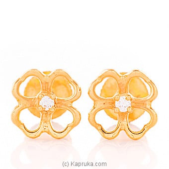 22kt gold e`stud set with cubic zirconia (e1024/1) Online at Kapruka | Product# jewelleryMH0244
