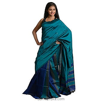 Peacock Blue Shades Silk Saree Online at Kapruka | Product# clothing0579