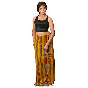 Black And Mustard Lungi With Blouse Materiel Online at Kapruka | Product# clothing0586