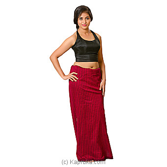 Purple And Coffee Brown Lungi With Blouse Materiel Online at Kapruka | Product# clothing0590