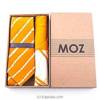 Golden Yellow Batik Tie Gift Pack Online at Kapruka | Product# fashion00956