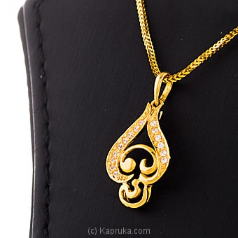22KT Y/G pendant studded with swarovski zirconia-pe0001141 Online at Kapruka | Product# jewelleryS0229