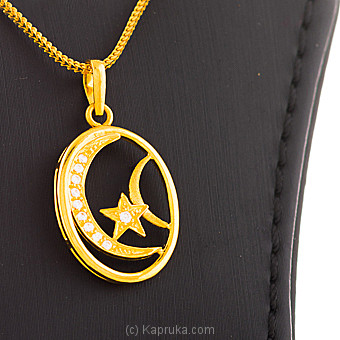 22KT Y/G pendant studded with swarovski zirconia-pe0001136 Online at Kapruka | Product# jewelleryS0227