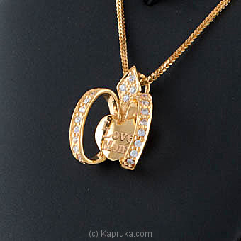 22KT Y/G pendant studded with swarovski zirconia-pe0001082 Online at Kapruka | Product# jewelleryS0222