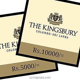 The Kingsbury Dining Voucher - Rs 5000 Online at Kapruka | Product# giftV00Z147_TC1
