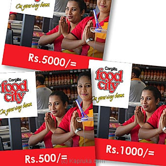 Cargills Foodcity Rs 500 Voucher Online at Kapruka | Product# giftV00Z161_TC1