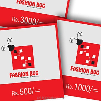 Fashion Bug Rs 500 Voucher Online at Kapruka | Product# giftV00Z149_TC1