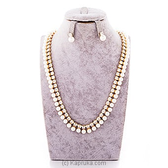 Pearls And Stone  jewelry Set ( Necklace And Earrings Set) Online at Kapruka | Product# jewllery00SK677