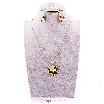 Color Stone Jewelry Set ( Necklace And Earrings Set) By Swarovski at Kapruka Online forspecialGifts