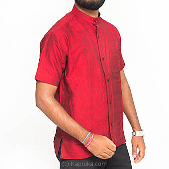 Homins Handloom Short Sleeve Red Shirt  Medium Online at Kapruka | Product# clothing0604_TC1