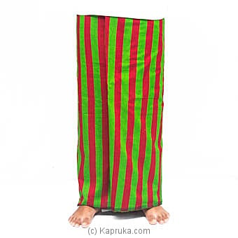 Green With Red Stripes Handloom Sarongat Kapruka Online forspecialGifts