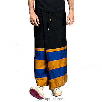 Cotton Black Rugby Sarong-SAURU16BGL1 at Kapruka Online for specialGifts