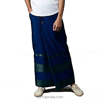 Cotton Blue Rugby Sarong-SAURU16LE01 at Kapruka Online for specialGifts