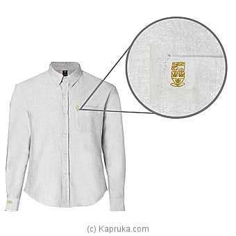 Trinity College Long Sleeve Shirt-Formal White 15`` Online at Kapruka | Product# schoolpride00103_TC1