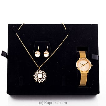 White Cubic Zircon Jewelry Set at Kapruka Online for specialGifts
