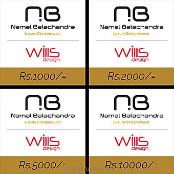 Wills Design Rs 1000 Voucher Online at Kapruka | Product# giftV00Z166_TC1