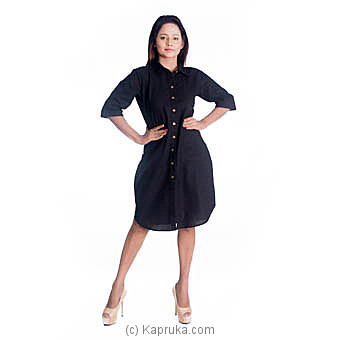 Black Linen Dress Medium Online at Kapruka | Product# clothing0618_TC1