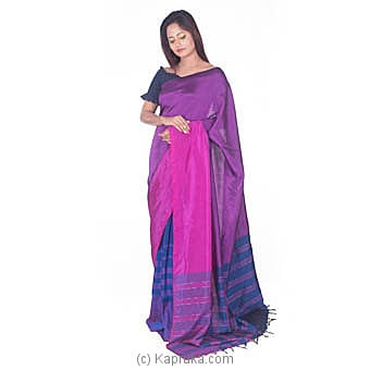 Pink,purple And Royal Blue Rayon Saree Online at Kapruka | Product# clothing0636