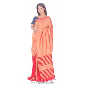 Red And Orange Rayon Saree at Kapruka Online for specialGifts