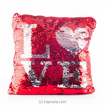 Love Cuddles Glittery Pillow Online at Kapruka | Product# softtoy00576