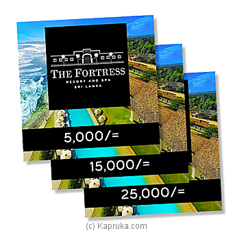 The Fortress Resort And Spa Gift Vouchers 5000 Online at Kapruka | Product# giftV00Z167_TC1