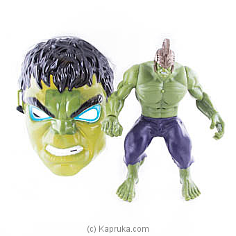 Superhero Hulk Action Figure With Face Mask Online at Kapruka | Product# kidstoy0Z849