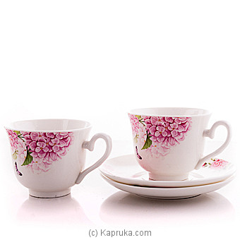 Pink Floral Tea Cup And Saucer Gift Set Online at Kapruka | Product# household00367