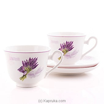 Lavender Tea Cup And saucer Gift Set at Kapruka Online for specialGifts