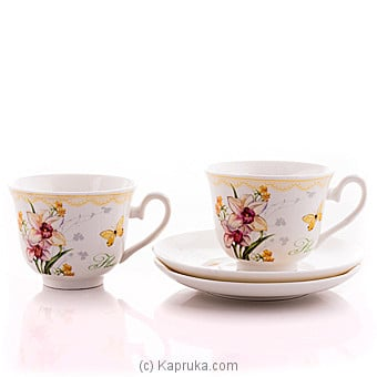 Vintage Floral Tea Cup And Saucer Gift Set Online at Kapruka | Product# household00369