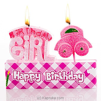 Birthday Girl Candles Online at Kapruka | Product# candles00118