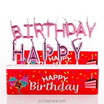 Happy Birthday Letter Candles Online at Kapruka | Product# candles00124