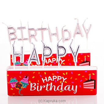 Happy Birthday Letter Candles Online at Kapruka | Product# candles00125