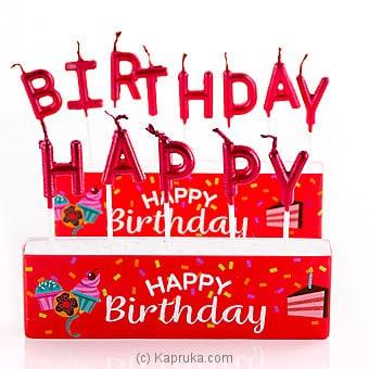 Happy Birthday Candles Online at Kapruka | Product# candles00127