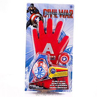 Captain America Glove With Disc Launcher Online at Kapruka | Product# kidstoy0Z873