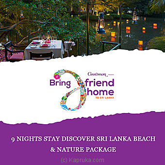 9 Nights Stay Discover Sri Lanka Beach & Nature Package per person sharing DBL room on HB basis Online at Kapruka | Product# giftV00Z174_TC1