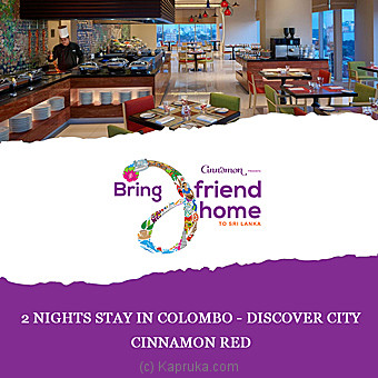 Cinnamon Red- 2 Nights Stay In Colombo Discover City Per Person Sharing DBL Room On BB Basis Online at Kapruka | Product# giftV00Z175_TC1