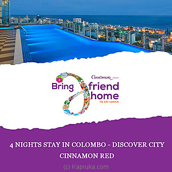 Cinnamon Red 4 Nights Stay In Colombo Discover City Per Person Sharing DBL Room On BB Basis Online at Kapruka | Product# giftV00Z176_TC1