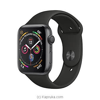 Apple Watch Series 4 44mm Space Gray Aluminium Case With Black Sport Band Online at Kapruka | Product# elec00A1583