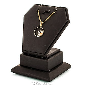 Swarnamahal c/Z 22kt yellow gold studded pendant with swarovski zirconia -pe0001340 Online at Kapruka | Product# jewelleryS0277